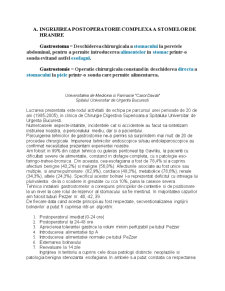 Ingrijirea Postoperatorie Complexa a Stomelor de Hranire - Pagina 1