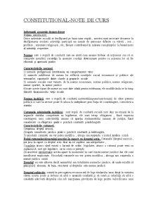 Constitutional - Note de Curs - Pagina 1