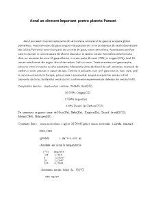 Aerul - Un Element Important pentru Planeta Pamant - Pagina 1