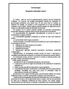 Drepurile Detinutilor Minori - Pagina 1