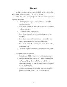 Aplicatie Web HTML, PHP si MYSQL - Pagina 2