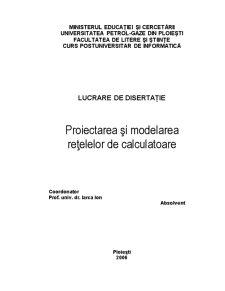 Proiectarea și Modelarea Rețelelor de Calculatoare - Pagina 2