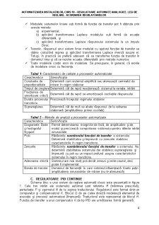Regulatoare Automate Analogice. Legi de Reglare - Pagina 4