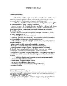 Drept Comunitar - Pagina 1