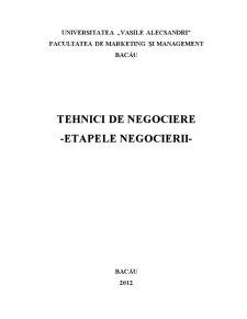 Etapele Negocierii - Pagina 1