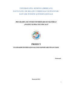 Standarde Internaționale de Raportare Financiară - Pagina 1