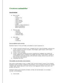 Cresterea Animalelor - Pagina 1