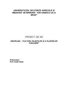 Cultura Pajiștilor și a Plantelor Furajere - Pagina 1