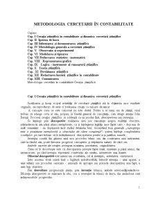 Metodologia Cercetării în Contabilitate - Pagina 1