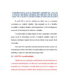 Clientii unei Banci si Serviciile Oferite - Pagina 1