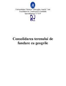 Consolidarea Terenului de Fundare cu Geogrile - Pagina 1
