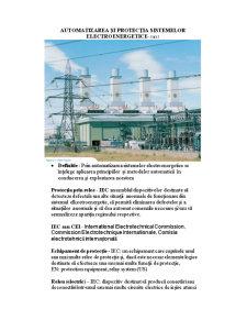 Automatizarea și Protecția Sistemelor Electroenergetice - Pagina 1