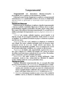 Temperamentul - Pagina 1