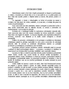 Analiza Variantelor de Inchidere a Lucrarilor Miniere Subterane de la Exploatarea Miniera Nistru Avand in Vedere Efectele Exploatarii Asupra Campurilor Miniere Vecine - Pagina 1