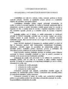 Contabilitate Bugetară - Pagina 1