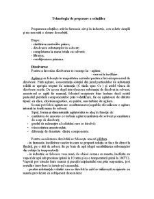 Tehnologia Preparii Solutiilor - Pagina 1