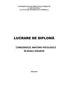 Consideratii Anatomo - Patologice in Boala Hodgkin - Pagina 1
