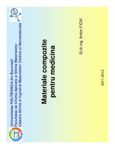 Materiale Compozite cu Aplicatii in Medicina - Pagina 1