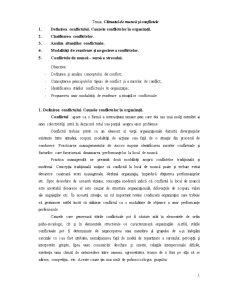 Climatul de Muncă și Conflictele - Pagina 1