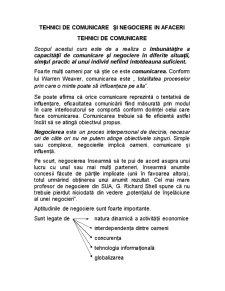 Tehnici de Comunicare și Negociere în Afaceri - Pagina 1