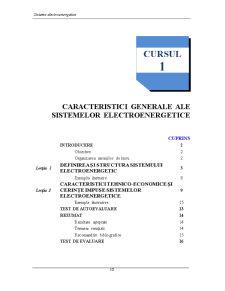 Caracteristici Generale ale Sistemelor Electroenergetice - Pagina 1