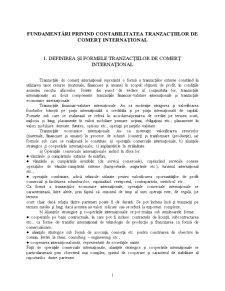 Fundamentări Privind Contabilitatea Tranzacțiilor de Comerț Internațional - Pagina 1