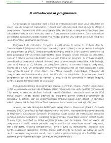 Programare Structurata - Structuri de Control VBA - Pagina 3