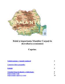 Rolul Carpatilor - Pagina 1