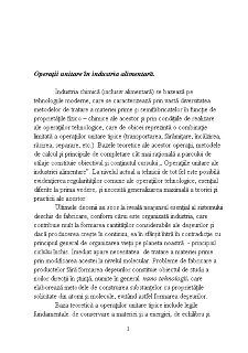 Operații Unitare în Industria Alimentară - Pagina 1