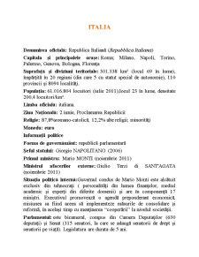 Italia din Punct de Vedere Economic - Pagina 1