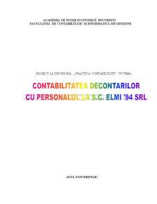 Contabilitatea Decontarilor Cu Personalul la SC Elmi 94 SRL - Pagina 1