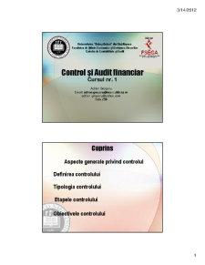 Control și Audit Financiar - Pagina 1