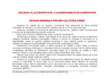 Siguranță Autenticitate și Conservabilitate Alimentară - Pagina 1