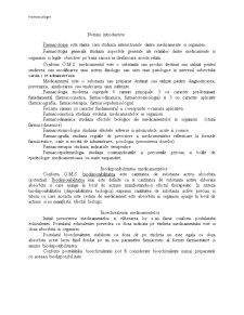 Farmacologie Anul I - Pagina 1