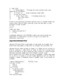 Drumuri Minime de Sursa Unica intr-un Graf - Pagina 4