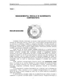 Managementul Riscului si Guvernanta Corporatista - Pagina 1