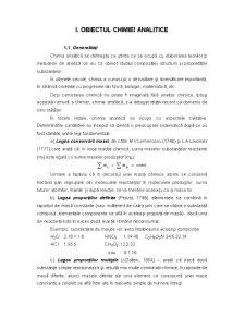 Chimie Analitica - Pagina 1