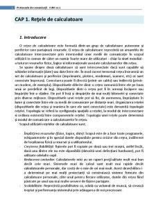 Protocoale de Comunicații - Pagina 1