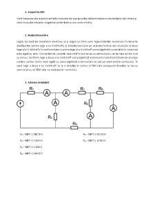 Verificarea pe Cale Experimentala a Metodei de Suprapozitie. Determinarea Conductantelor de Intrare si Celor Mutuale. Trasarea Diagramei Potentiale a Unui Contur Inchis - Pagina 1