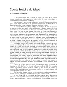Courte Histoire du Tabac - Pagina 1
