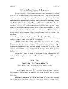 Ecologie si Protectia Mediului - Pagina 1