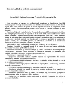 Legislatie - Autoritatea Nationala pentru Protectia Consumatorilor - Pagina 1