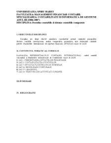 Doctrine Contabile și Sisteme Contabile Comparate - Pagina 1