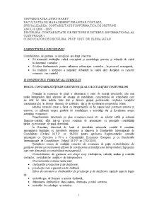Contabilitate de Gestiune si Sistemul Informational al Costurilor - Pagina 1