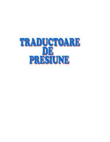 Traductoare de Presiune - Pagina 1