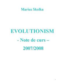 Evolutionism - Pagina 1