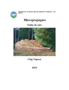 Micropropagare - Pagina 1