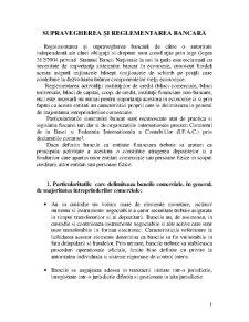 Reglementari si Supraveghere Bancara - Pagina 1