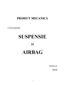 Suspensie și Airbag - Pagina 1