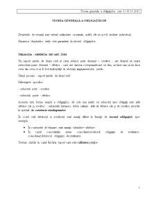 Drept Civil - Teoria Obligatiilor - Pagina 1